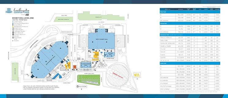 Level 1 -  Exhibit Halls Brochure