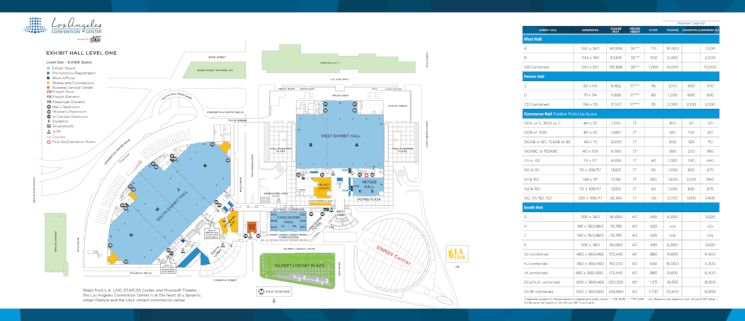 Level 1 -  Exhibit Halls Brochure