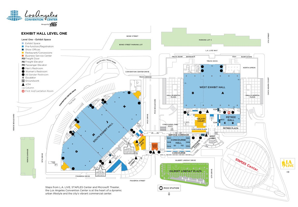 Facility Maps | Los Angeles Convention Center on book center, water center, transportation center,