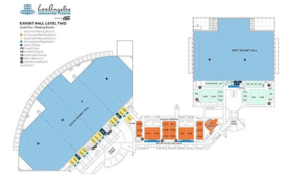 Floor Plans Los Angeles Convention Center: Los Angeles Convention Center Parking Map At Infoasik.co
